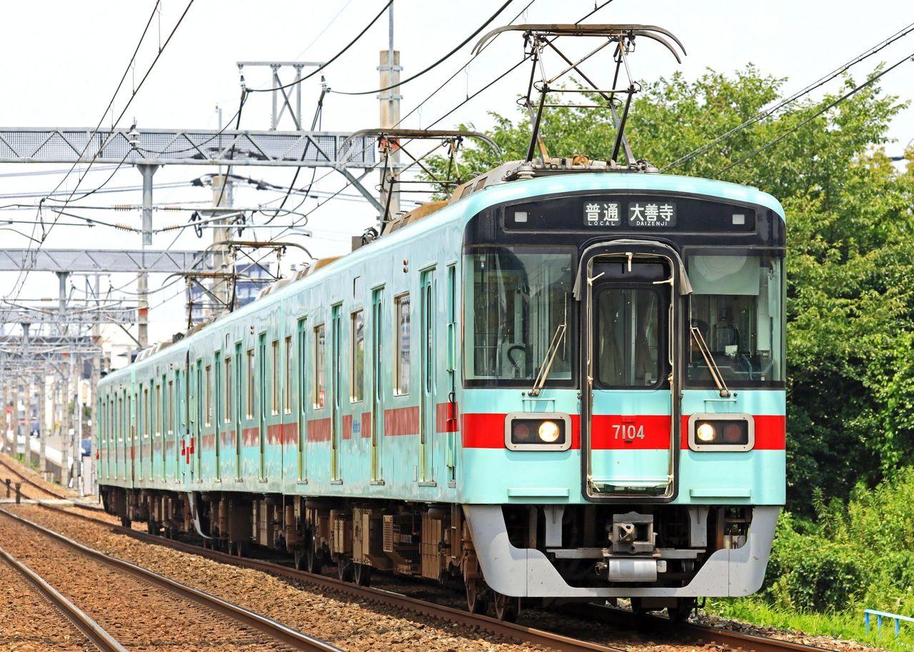 西日本鉄道 7000形7104F+7108F