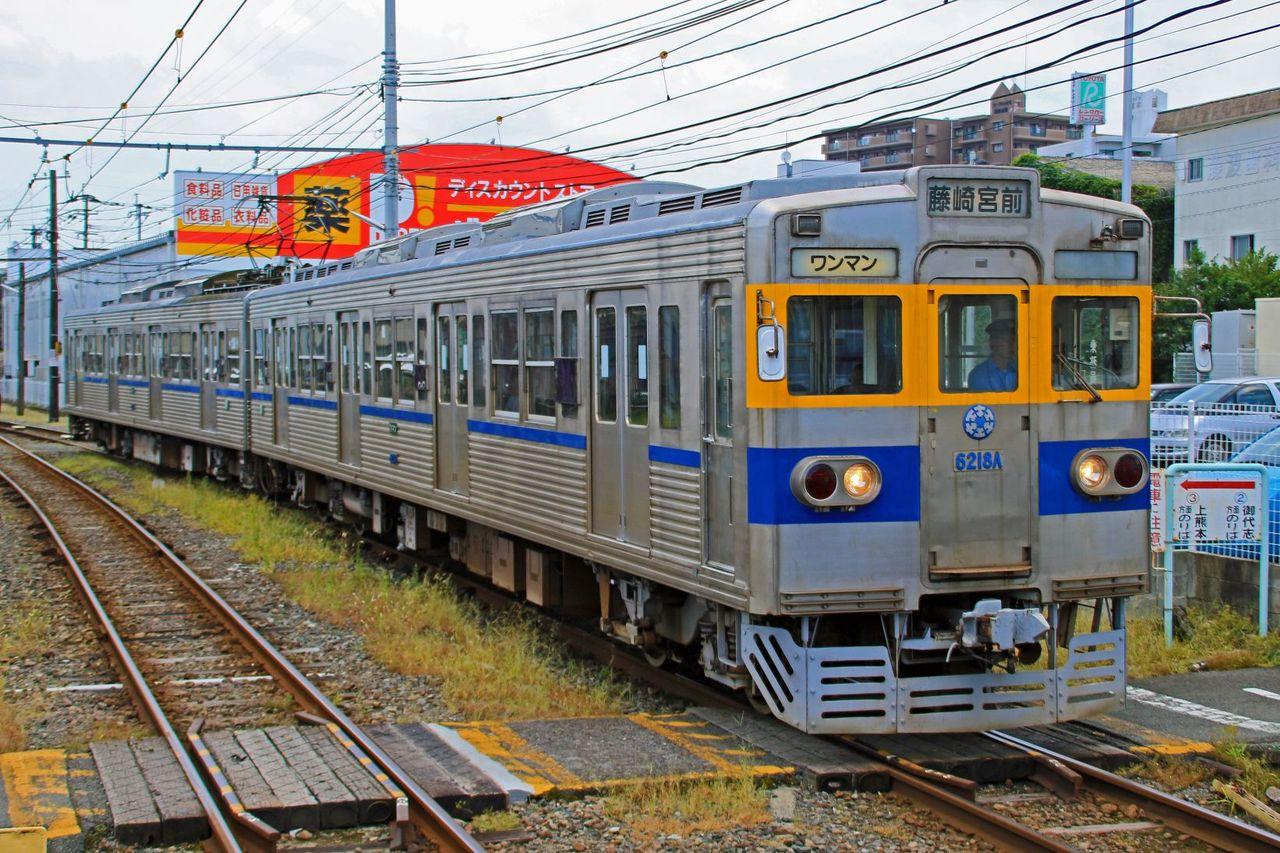熊本電気鉄道 6000形6211A+6218A(旧東京都交通局三田線車)