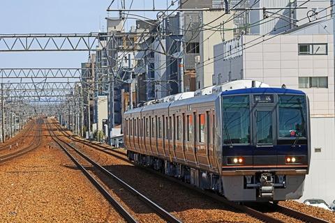 JR西日本 207系1000番台S8編成 出場回送