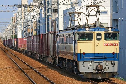 JR貨物 EF65-2086号機 国鉄特急色