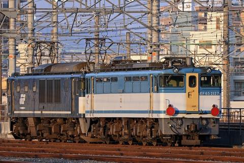 JR貨物 EF64-1046号機広島更新色牽引 EF65-2127号機広島更新色 無動力回送