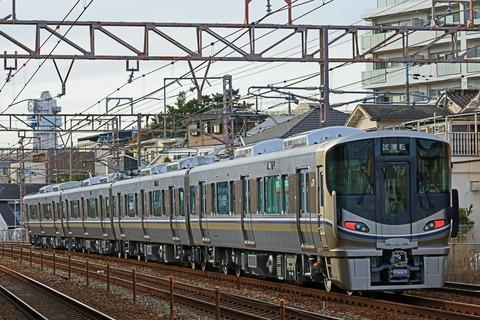JR西日本 225系100番台U10編成 本線試運転