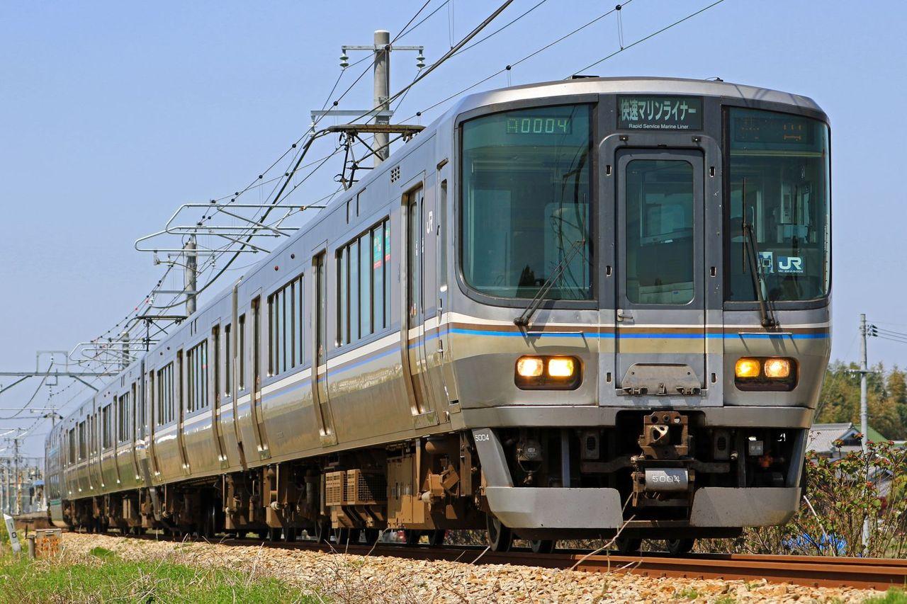 JR四国 5000系M3+JR西日本 223系5000番台P4編成 「マリンライナー」