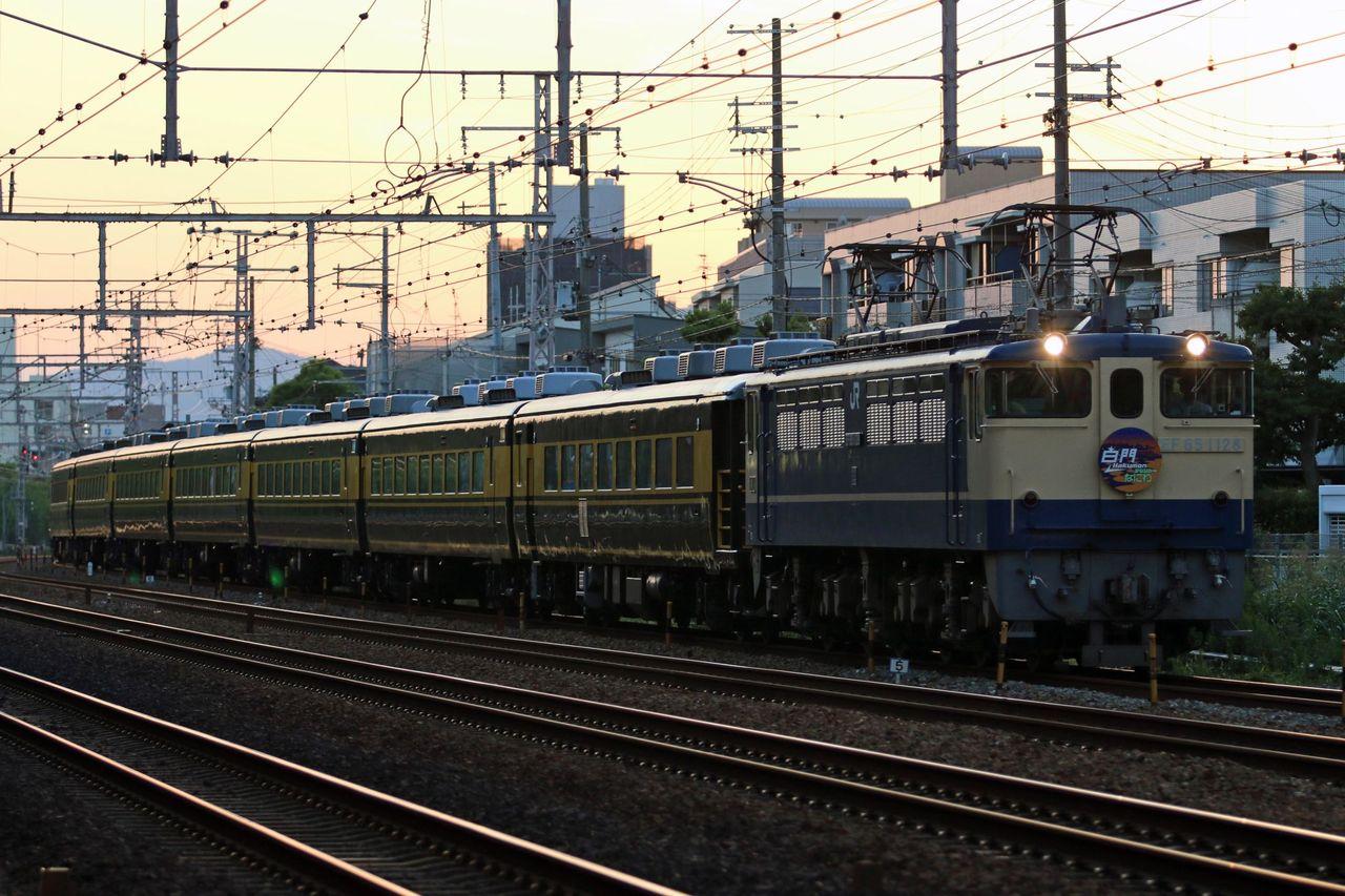 JR西日本 EF65-1128牽引 「サロンカーなにわ」 中央大学鉄道研究会イベント列車