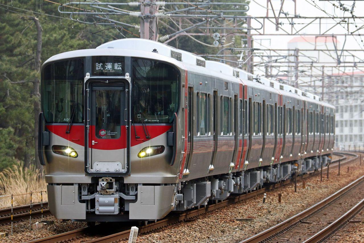 JR西日本 227系A09+S02編成 試運転