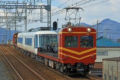 近畿日本鉄道 モト90形 電動貨車97-98 26000系さくらライナーSL01編成2両 回送