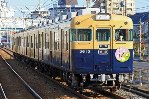 山陽電気鉄道 3000系3030F「観梅」HM掲出編成 復刻ツートンカラー