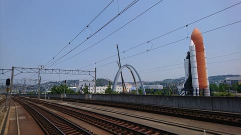 JR九州 スペースワールド駅。