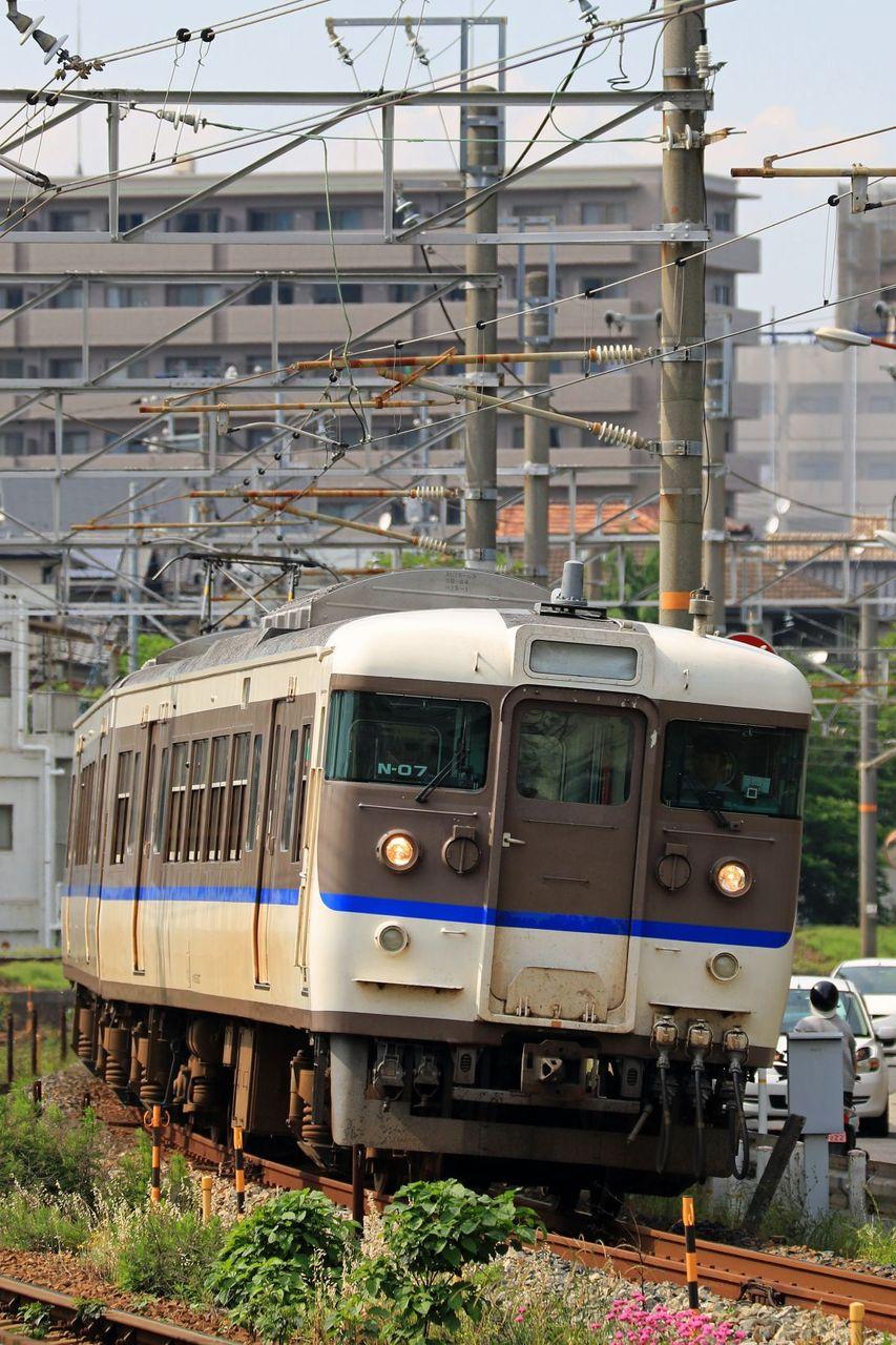 JR西日本 115系3000番台N07編成 広島更新色