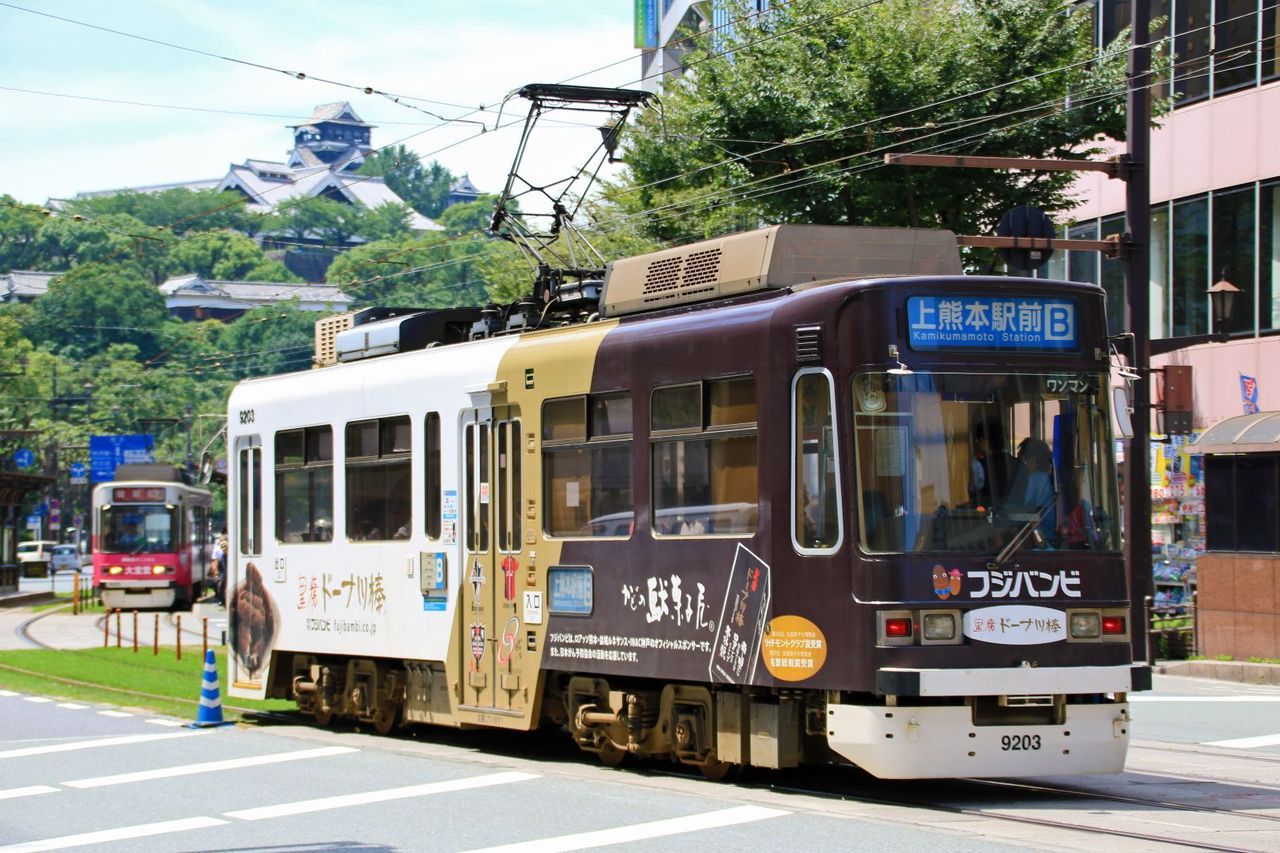 熊本市交通局 9200形9203 「フジバンビ」ラッピング車