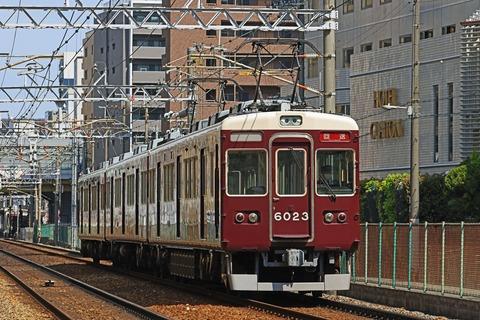 阪急電鉄 6000系6023F 正雀出場回送