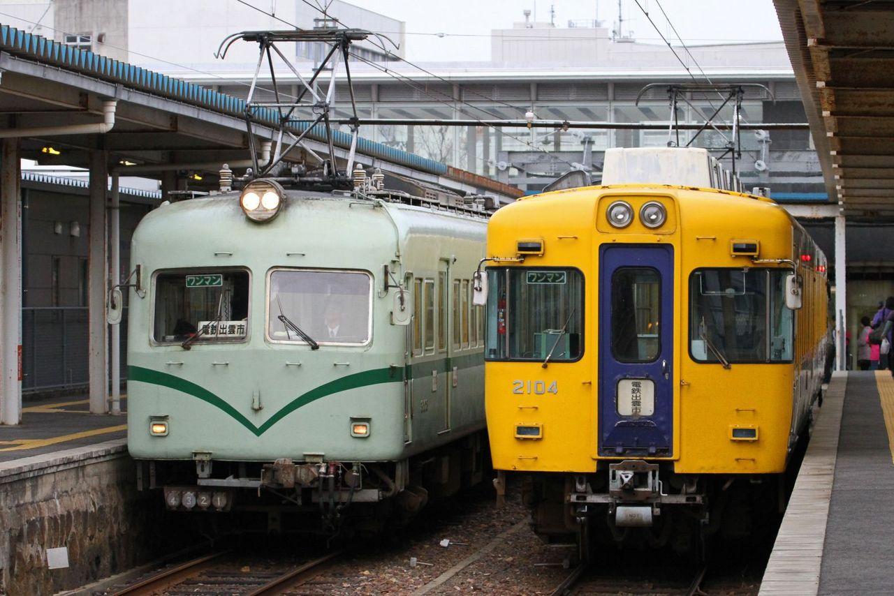 一畑電車 3000系3008F 南海色 (過去記事再掲)