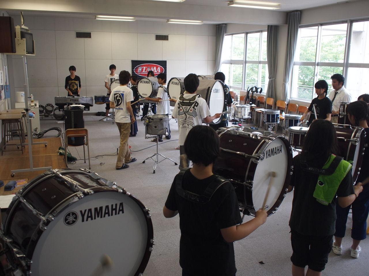 P6239566 高等学校芸術文化連盟と高校吹奏楽連盟が共催 今年は、一学期から始めてい...