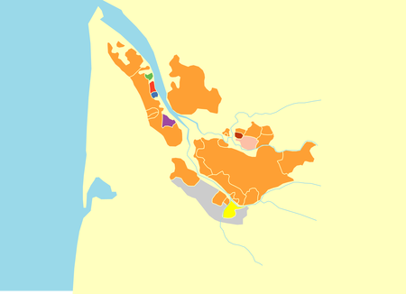 ボルドー白地図 [更新済み]