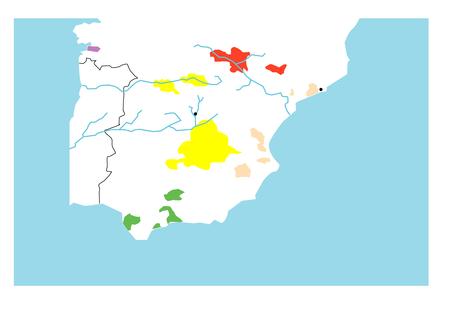 スペイン白地図 [更新済み]