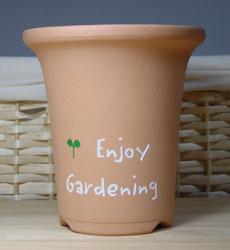 エッチング植木鉢
