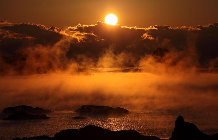 海霧:荒船海岸