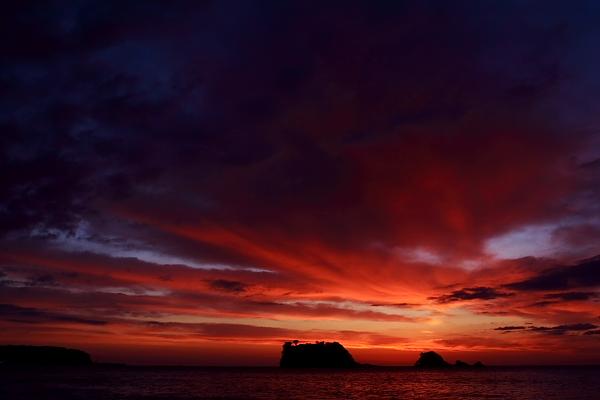 鯛島の朝焼け