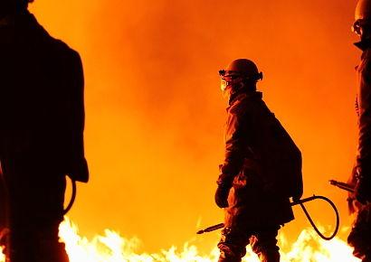 2年前の炎の消防士