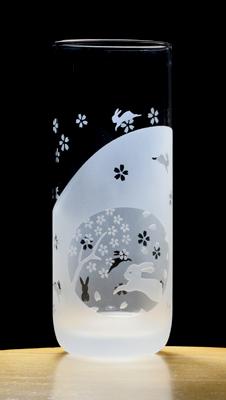 エッチンググラス:ウサギ-2