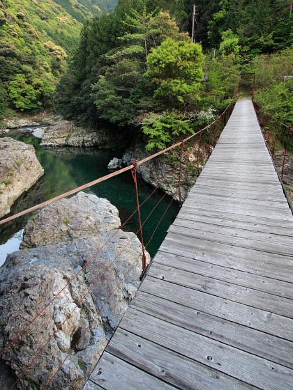 恐怖のつり橋