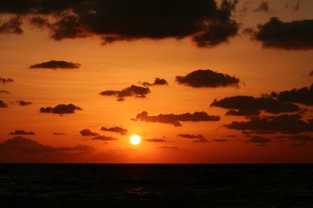 上浦海岸の夕日-1
