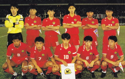 Japan-92-PUMA-U23-home-kit-red-red-red-line-up