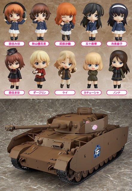 巡回 「ねんぷちガルパン」「Ⅳ号戦車H型」再販決定!figma「西住まほ」「逸見エリカ」企画進行中 ほか