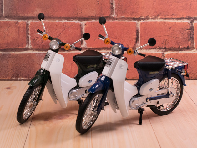 レビュー アオシマ 1/12スケール Honda スーパーカブ50 グリーン/ブルー