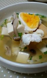 豆腐ときのこのうまだしスープ
