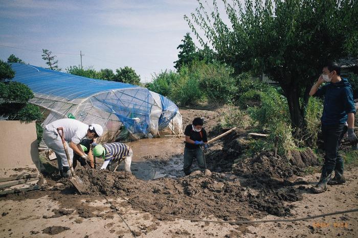 鬼怒川氾濫。洪水被害からの復興 その3