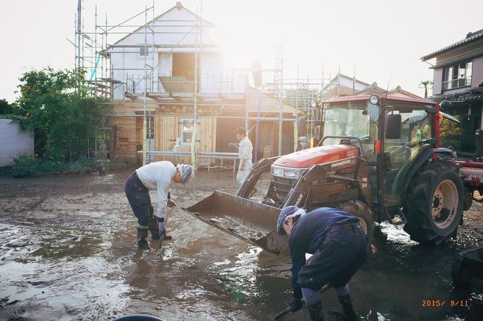 鬼怒川氾濫。洪水被害からの復興 その1