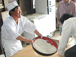 蕎麦粉の香り