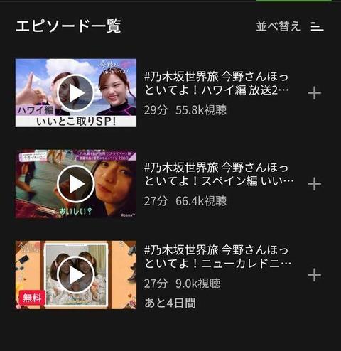 【乃木坂46】『乃木坂世界旅第3回』の先行配信視聴回数が大変なことになってるんだが・・・