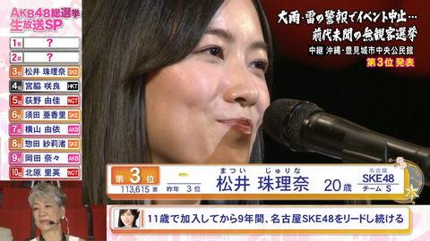 【AKB48世界選抜総選挙】「いざ、約束の場所へ」松井珠理奈とプロレスと総選挙