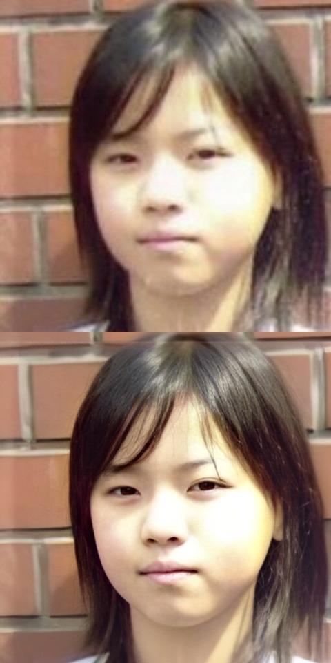 これは凄すぎる!!!!!!西野七瀬の小学校卒業式写真を高解像度化アプリに取り込んでみた結果!!!!!!【元乃木坂46】