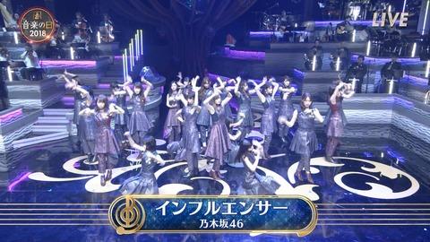 【乃木坂46】まさかの生バンドw 音楽の日『インフルエンサー』を披露!実況まとめ!!!