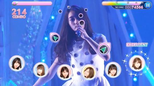 【乃木坂46】奥行き方式の譜面かぁ!ゲームアプリ『乃木坂46リズムフェスティバル』PVを公開!!