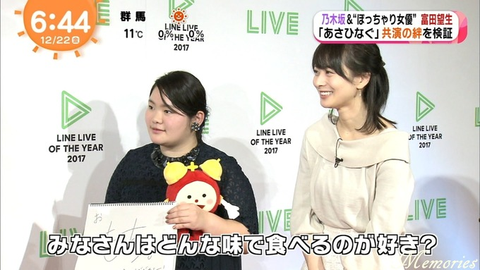 めざましアクア テレビ 生田 松村 桜井 富田 (46)