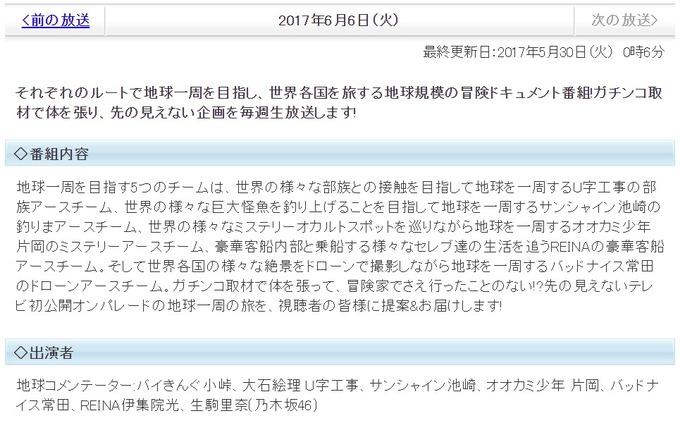 陸海空 生駒里奈 6月6日