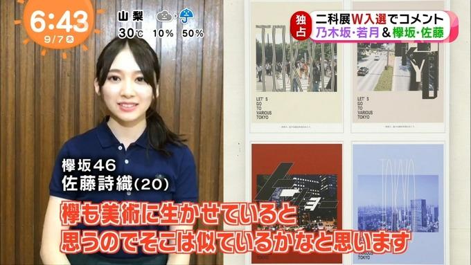めざましテレビ 若月佑美 佐藤詩織 二科展 (13)