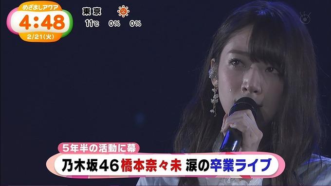 めざましアクア『橋本奈々未卒業コンサート』 (1)