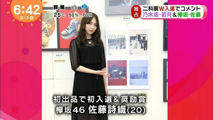めざましテレビ 若月佑美 佐藤詩織 二科展 (9)