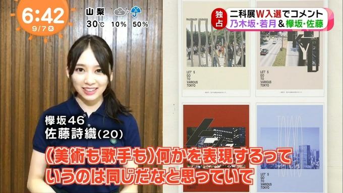 めざましテレビ 若月佑美 佐藤詩織 二科展 (11)