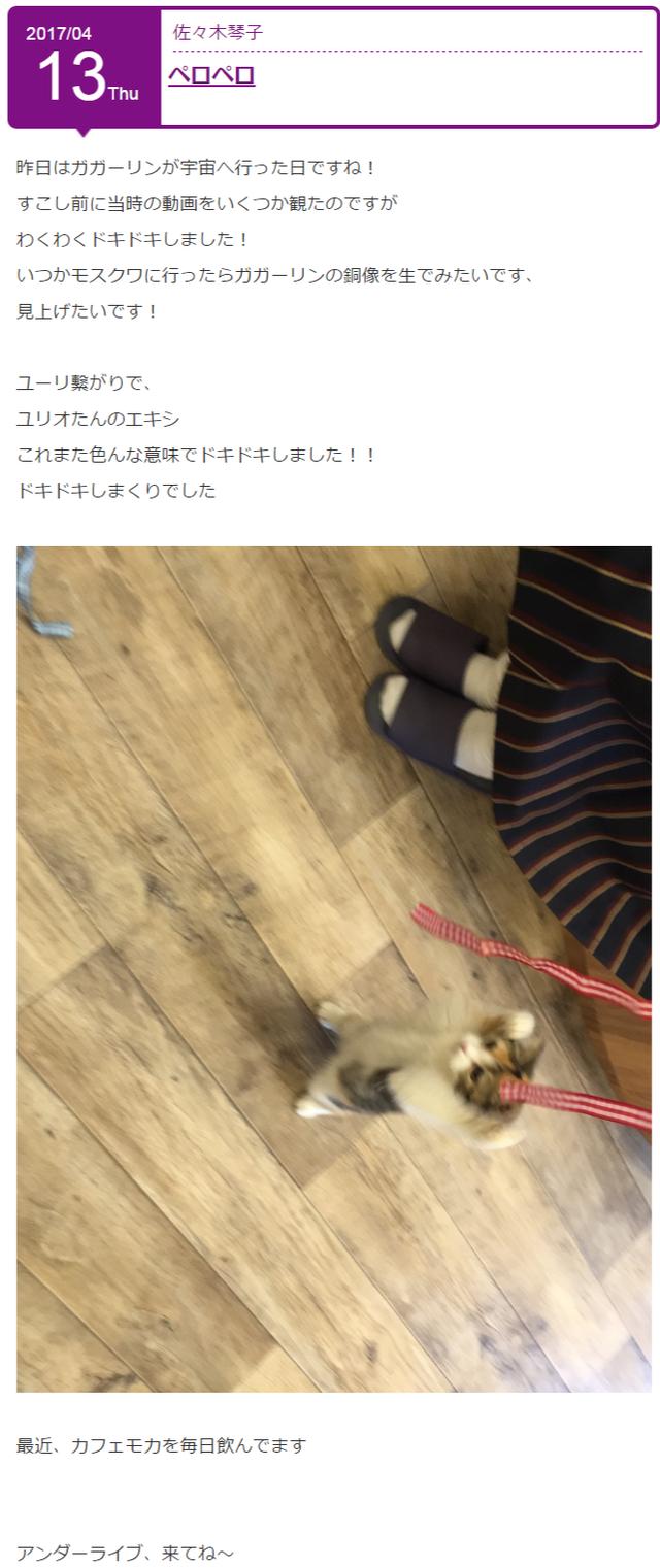 佐々木琴子 ブログ更新2回目