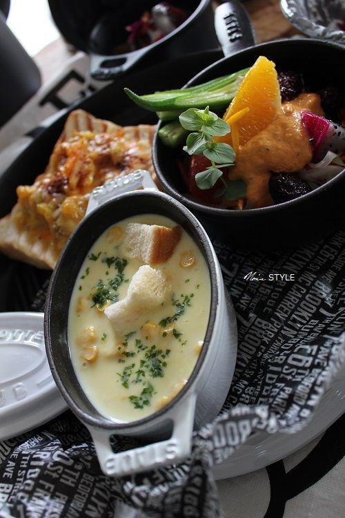 料理・・・フルーツカレー トースト6