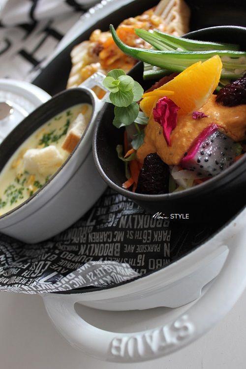 料理・・・フルーツカレー トースト5