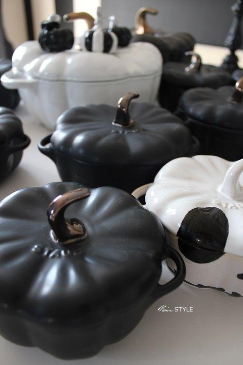 食器・・・ハロウィン パンプキン 白黒2