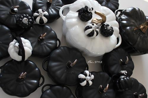 食器・・・ハロウィン パンプキン 白黒4