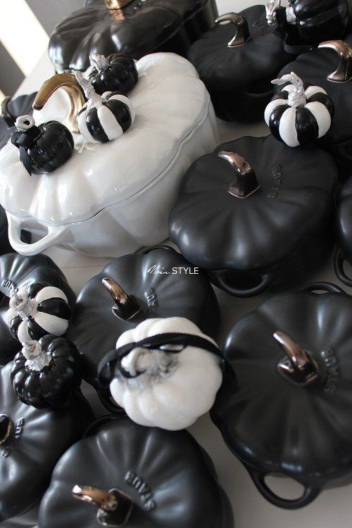 食器・・・ハロウィン パンプキン 白黒3